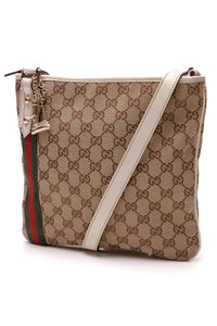 Gucci Jolicoeur Web Charms Messenger Bag Signature Canvas Beige Ivory