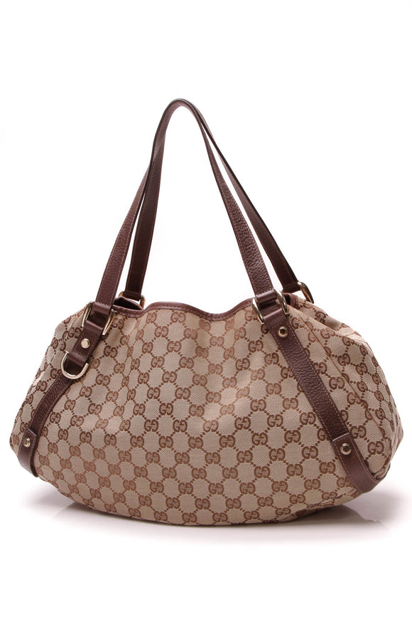 Gucci Medium Abbey Tote Bag Signature Canvas Beige