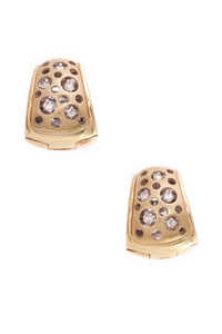Natasha Collis Diamond Huggie Earrings Gold