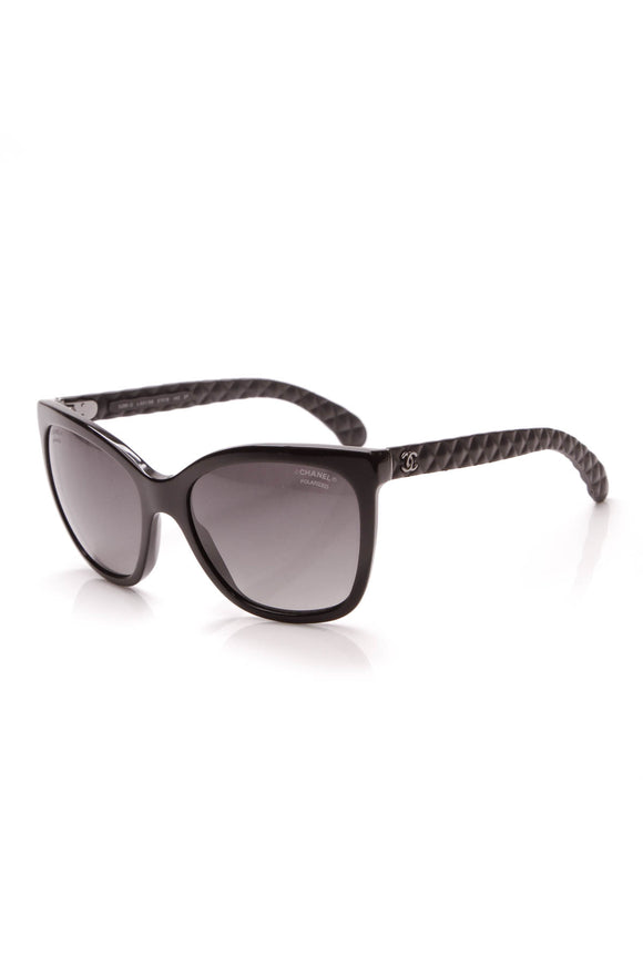 Chanel Quilted Polarized Sunglasses 5288Q Black