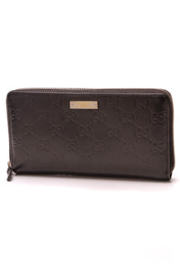Gucci Zip Around Wallet Black Guccissima