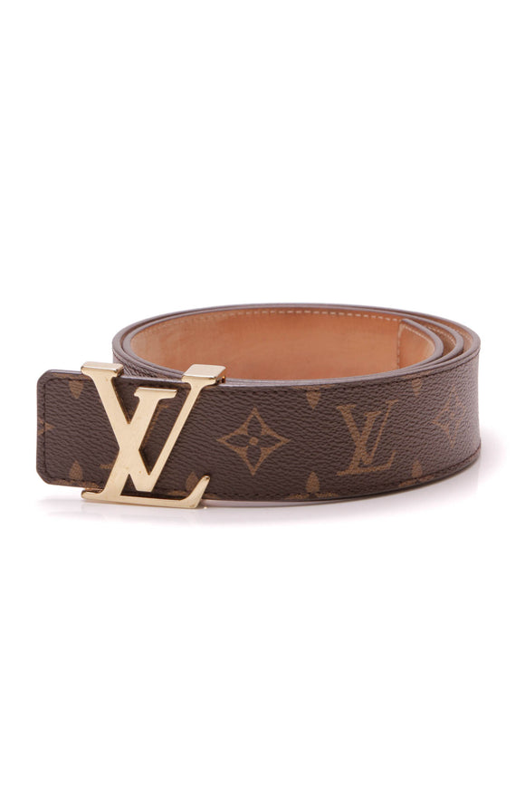 Louis Vuitton Initiales 40mm Belt Monogram Size 34 Brown Gold