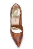 Dolce and Gabbana Jacquard Paisley Pointed-Toe Pumps Rust Size 36