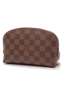 Louis Vuitton Cosmetics Pouch Damier Ebene Brown