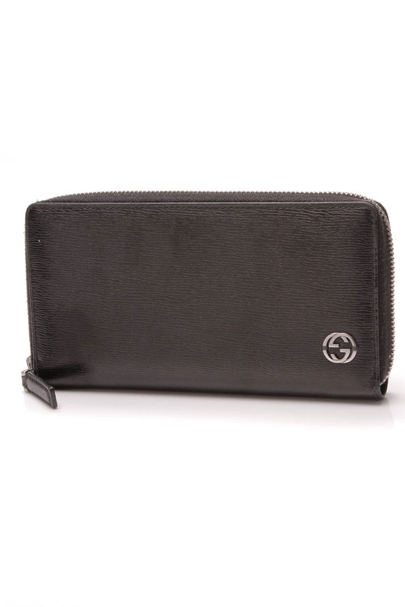Gucci Interlocking G Zippy Wallet Black