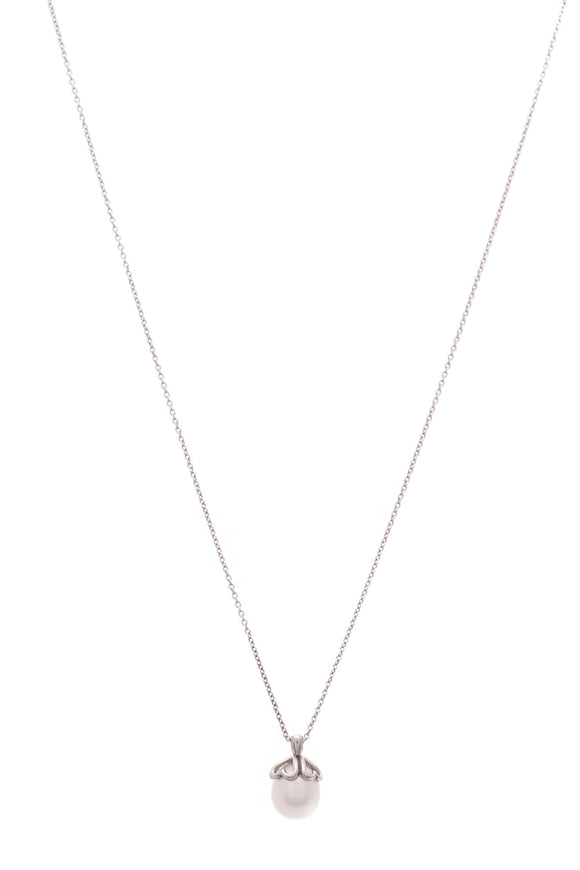 Tiffany & Co. Pearl Drop Necklace Silver