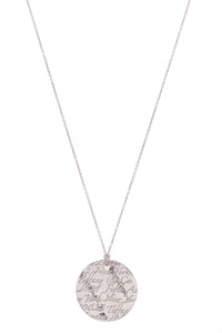 Tiffany & Co. Notes Small Pendant Necklace Silver
