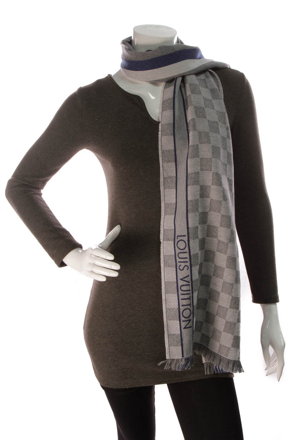 Louis Vuitton Messager Damier Scarf Light Grey
