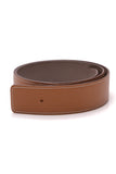 Hermes 40mm Reversible Belt Strap Gray Tan