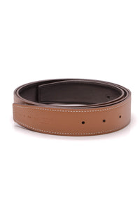 Hermes 32mm Reversible Belt Strap Tan Black