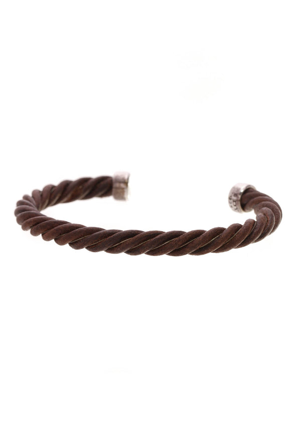 David Yurman 7mm Cuff Men's Bracelet Brown Silver