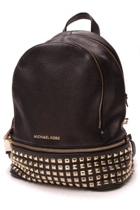 Michael Kors Studded Rhea Medium Backpack Black