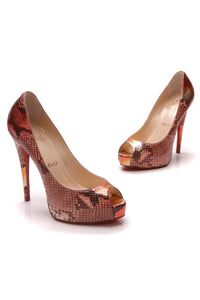 Christian Louboutin Vendome Python 120 Platform Pumps Multicolor Size 37