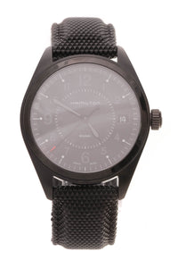 Hamilton Khaki Field Quartz Men's Watch Black Steel