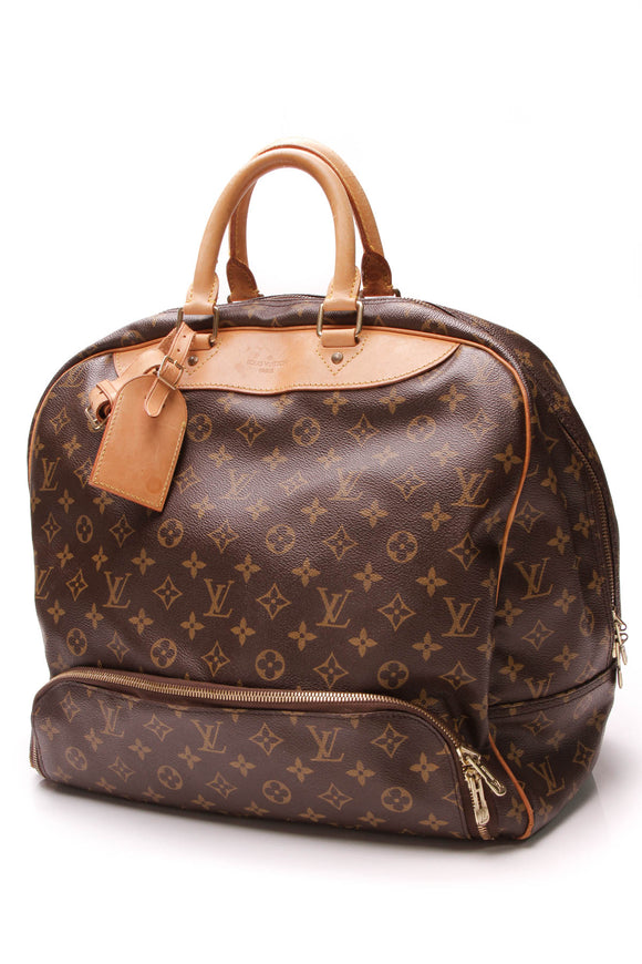 Louis Vuitton Vintage Evasion Travel Bag Monogram Brown