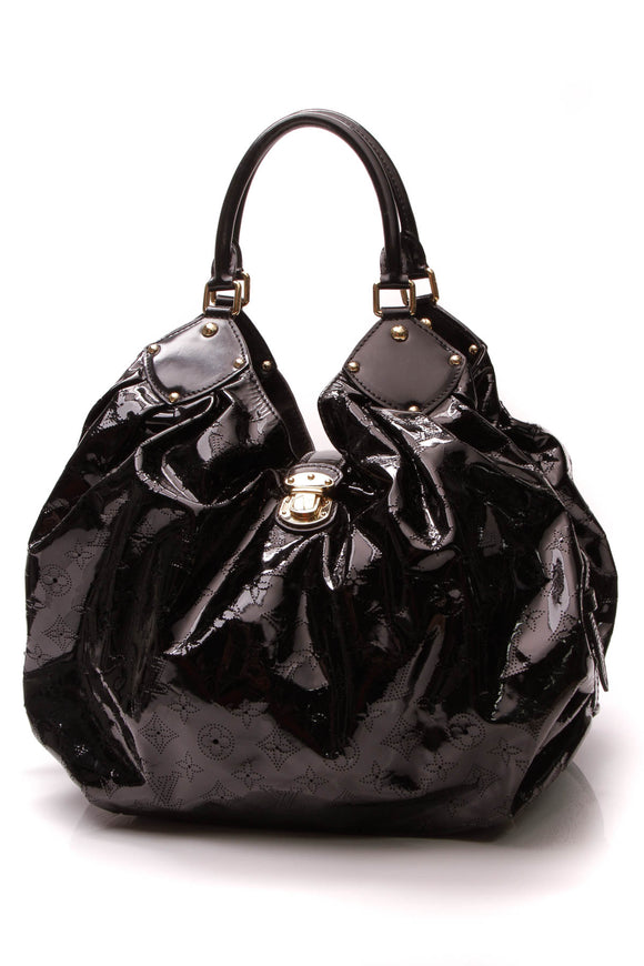 Louis Vuitton Surya XL Hobo Bag Black Patent