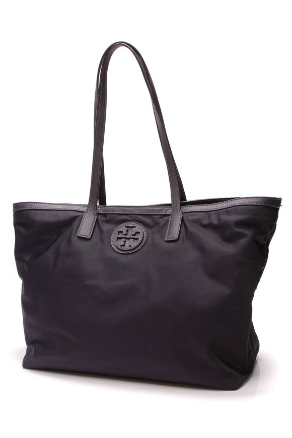 Tory Burch Marion Tote Bag Navy Nylon