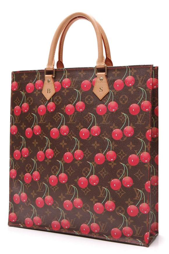 Louis Vuitton Limited Edition Cerise Sac Plat Tote Bag Monogram Brown