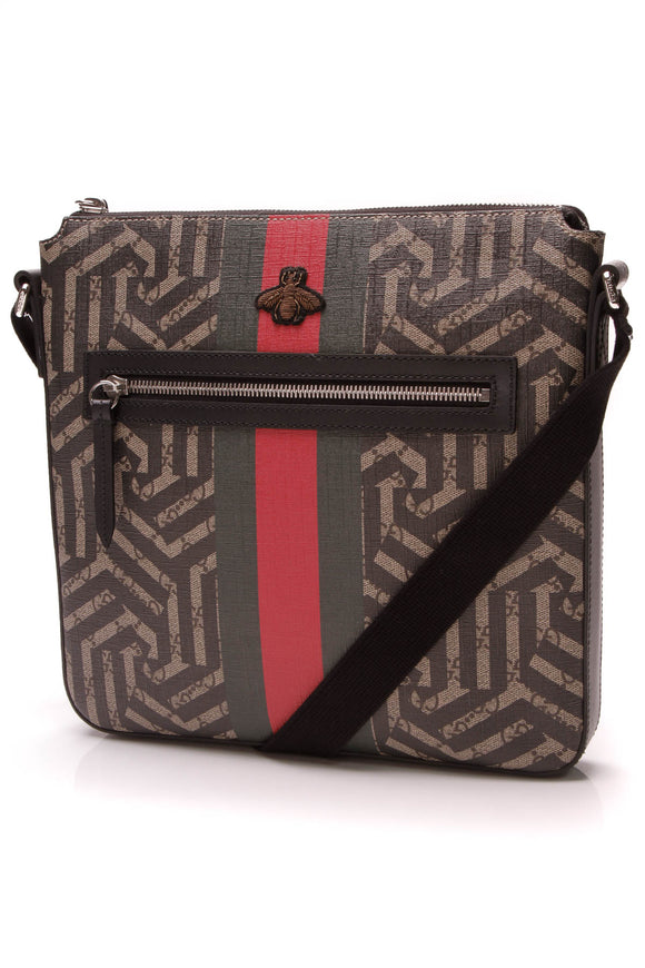 Gucci Caleido Messenger Bag Supreme Canvas Beige Black