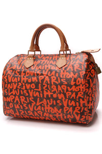 Louis Vuitton Speedy 30 Graffiti Bag Monogram Orange