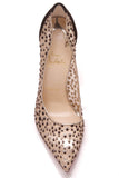 Christian Louboutin Follies Mesh Pumps Black Nude Size 39