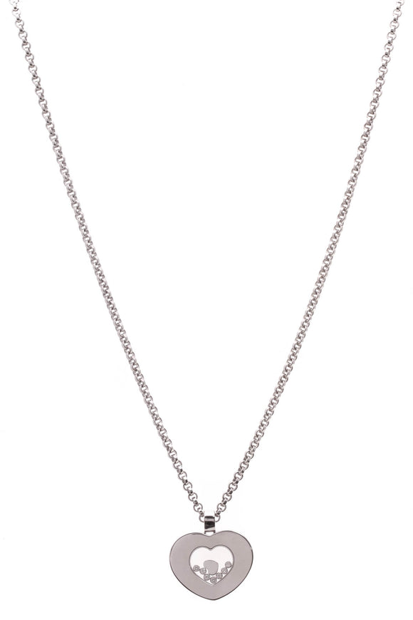 Chopard Happy Diamonds Icon Heart Necklace White Gold