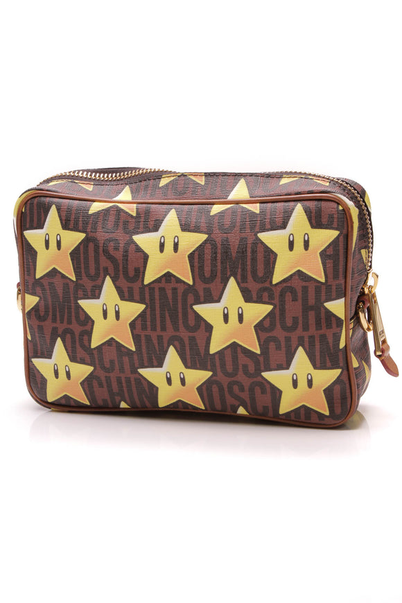 Moschino Super Star Pouch Brown