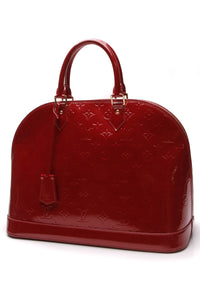 Louis Vuitton Vernis Alma GM Bag Pomme D'Amour Red