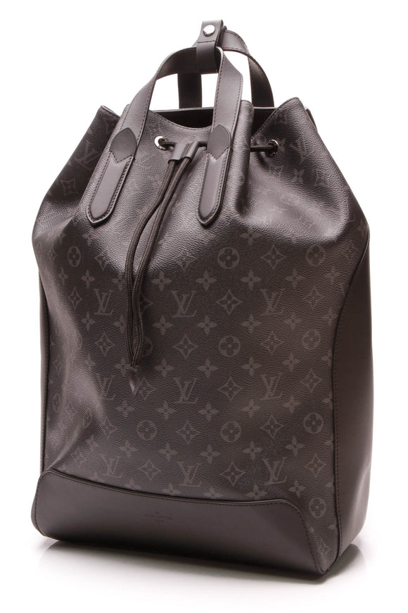Louis Vuitton Explorer Backpack Monogram Eclipse Black Gray