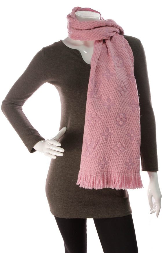Louis Vuitton Logomania Scarf Pink