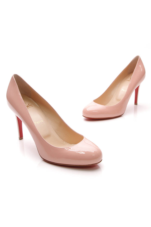 Christian Louboutin Fifille 85 Pumps Light Pink Patent Size 40