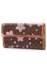 Louis Vuitton Cherry Blossom Porte-Tresor International Wallet Monogram Brown
