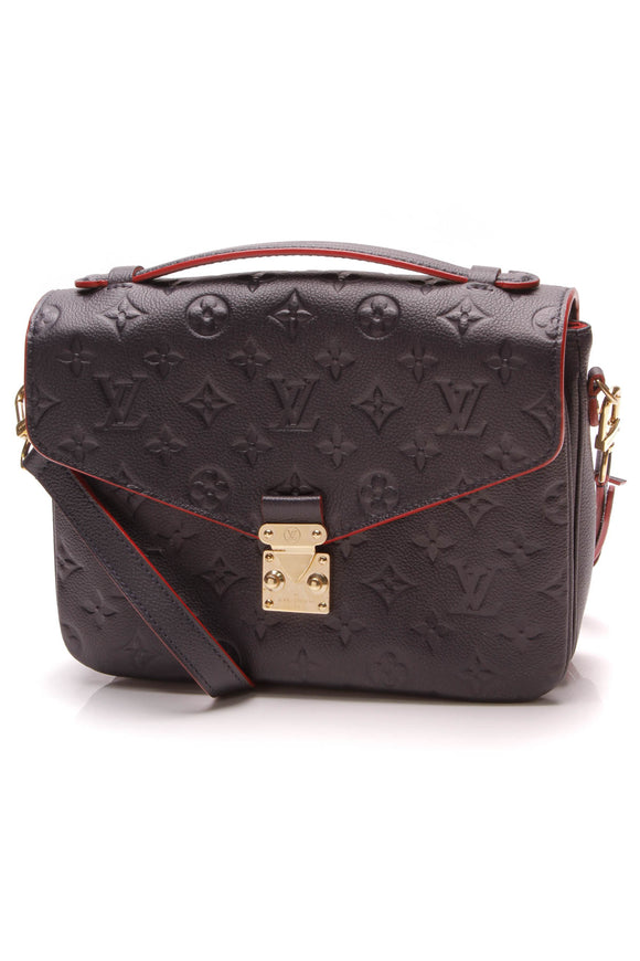 Louis Vuitton Empreinte Pochette Metis Bag Marine Rouge Navy Red