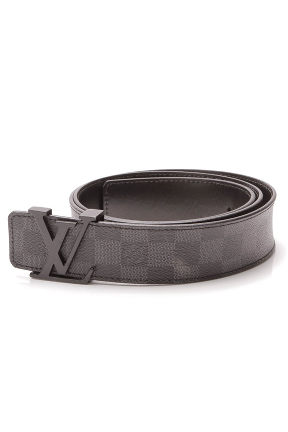 Louis Vuitton LV Initiales 40mm Belt Damier Graphite Size 40 Gray Black