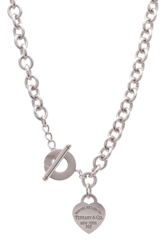 Tiffany & Co. Return To Tiffany Heart Tag Toggle Necklace Silver