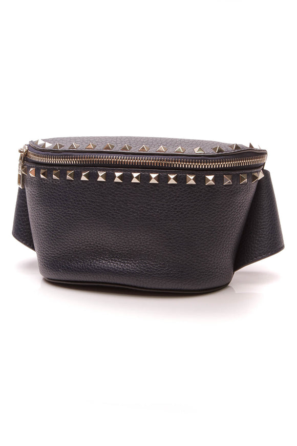 Valentino Rockstud Belt Bag Blue