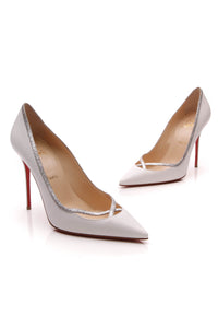 Christian Louboutin Princess 100 Pumps White Size 40.5