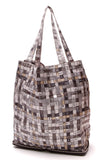 Hermes Bolduc au Carre Silky Pop Tote Bag Black Gray