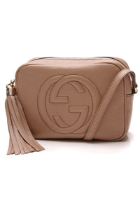 Gucci Soho Disco Small Crossbody Bag Rose Beige