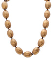 Chanel Vintage Large Bead Choker Necklace Bronze Gold