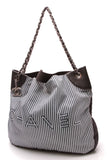 Chanel Rialto Tote Bag Navy White
