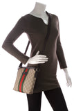 Gucci Web Crossbody Bag Supreme Canvas Beige Brown