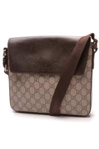Gucci Messenger Crossbody Bag Supreme Canvas Beige Brown