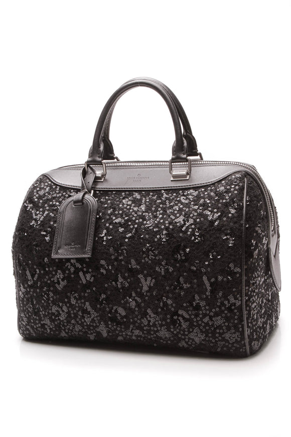 Louis Vuitton Sunshine Express Speedy Bag Black Monogram Sequins