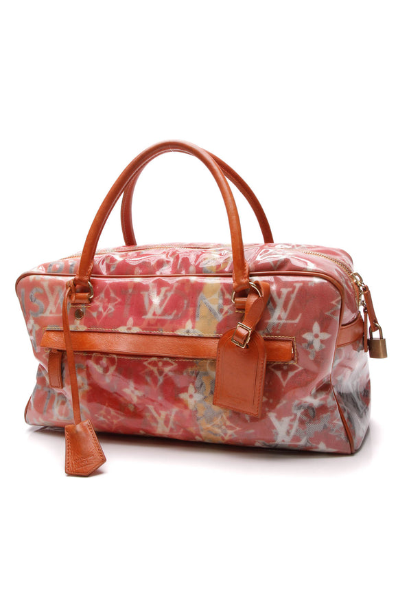 Louis Vuitton Richard Prince Defile Weekender PM Pulp Bag Rose