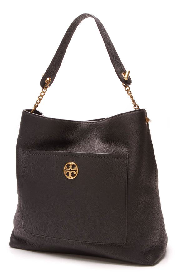 Tory Burch Chelsea Chain Hobo Bag Black