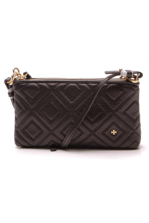 Tory Burch Fleming Chain Crossbody Bag Black