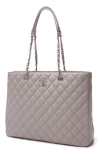 Chanel Large Shopping Tote Bag Gray