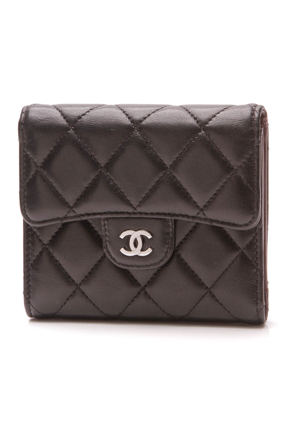 Chanel Classic Flap Small Compact Wallet Black