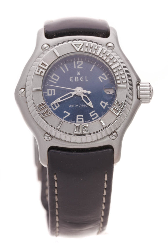 Ebel Small Discovery Watch Steel Navy
